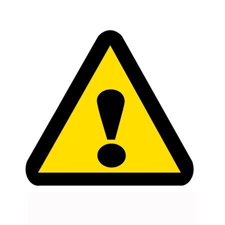 Sign of Danger caution Symbol with text Stock Photo - 11267736