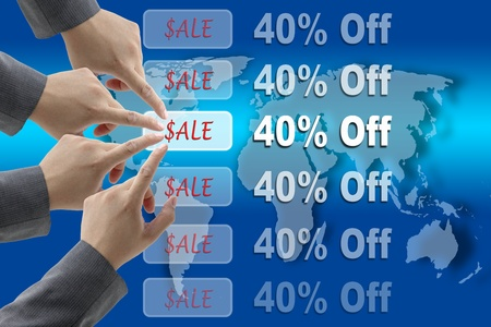 consensus: A diverse business teamwork On Sales for Retail Shopping Concept