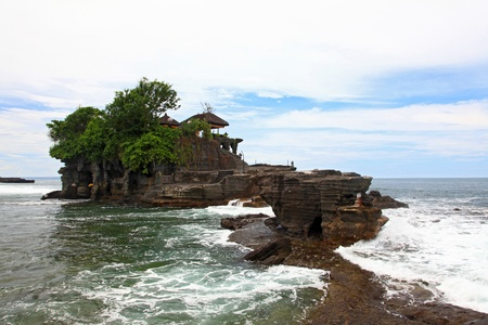 Tanah Lot Temple in Bali Island Indonesia photo