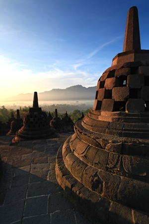 Borobudur Temple Stupa in Yogyakarta, Java, Indonesia. photo