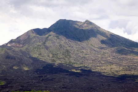 Closeup of Batur volcano landscape from Kintamani crater Bali Indonesia photo