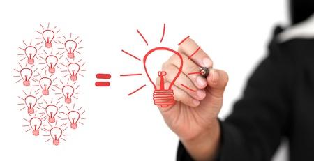 ötletroham: üzlet kézírás nagy ötlet Team kreativitás Team Ötletbörze Concept Stock fotó