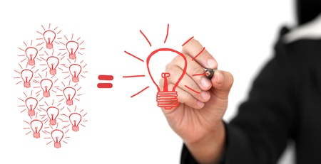 expertise concept: business Hand Writing Big Idea Team for Creativity Team for Brainstorming Concept Stock Photo