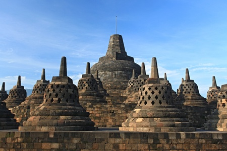 Architecture Borobudur Temple Stupa Ruin in Yogyakarta Java Indonesia. Stock Photo - 12017200
