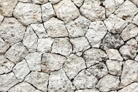 irregular shapes: Tradicionales de la pared de ladrillo de piedra Piedras Fragmento en primer plano las formas irregulares