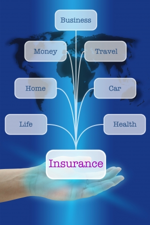 home safety: Hand Hold Seven Insurance for Business Risk Management concept