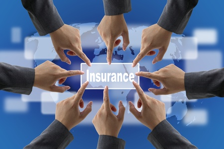 A diverse business teamwork do World Insurance for Risk Management Concept photo