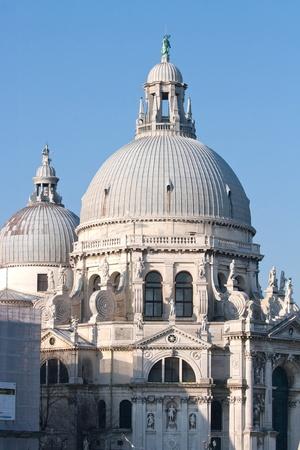Architecture of Santa Maria Della Salute Church at Grand canal Venice Italy photo