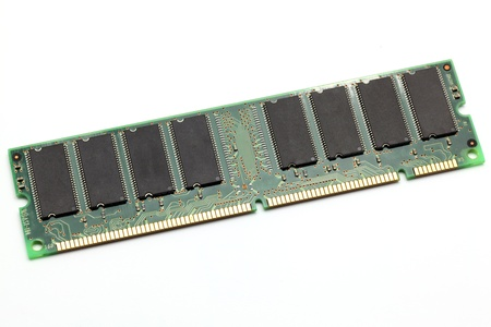dimm: Computer ram memory on white background