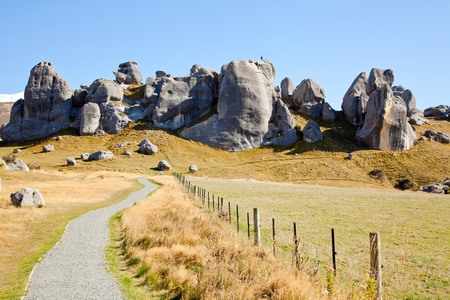 south island new zealand: Stone Mountain Landscpe at Castle Hill New Zealand