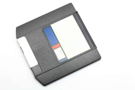 Zip Drive magnetic computer data storage support over white background photo