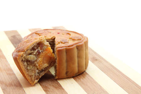 Chinese traditional Moon Cake with yolk egg photo