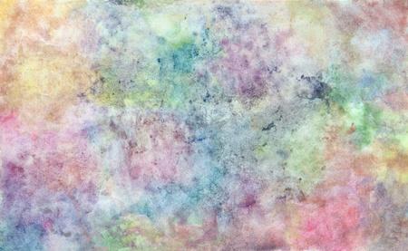 abstrait dessin à main libre à partir de techniques d'aquarelle de jeunes enfants illustré artistes apprennent genre