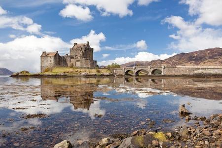 jacobite: Reflection of Eilean Donan Castle, Highland Scotland.