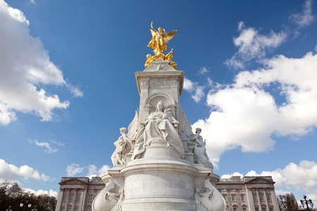 Queen Victoria Memorial at Buckingham Palace , London England UK