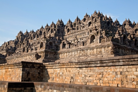 Architecture Borobudur Temple Stupa Ruin in Yogyakarta Indonesia. photo