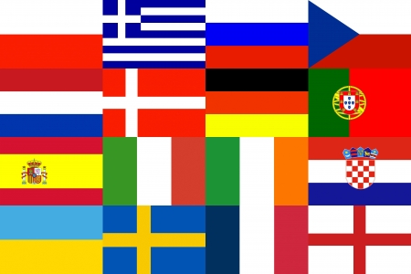 Football Soccer 2012 cup Tournament group Background of 16 Europe National Pattern photo