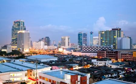 Bangkok cityscape skyscraper at dusk Thailand