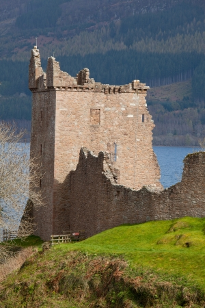 ness: Ruins of Urquhart Castle at Loch Ness Inverness Highlands Scotland UK