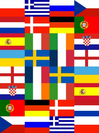 16 Europe National flag Pattern background photo