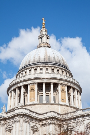 Close up of  St. Paul Cathedral Dome in London England United Kingdom photo