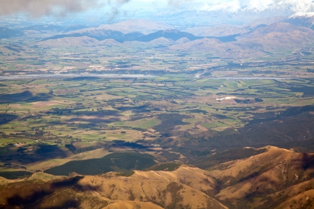 canterbury: Aerial view of Canterbury agriculture zone New zealand