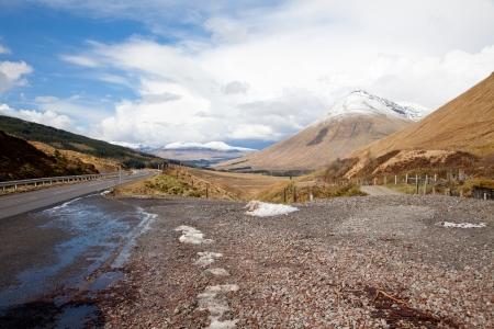 Countryside landscape in Highland Scotland photo