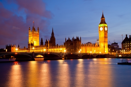 Landscape of Big Ben and Palace of Westminster London England UK photo