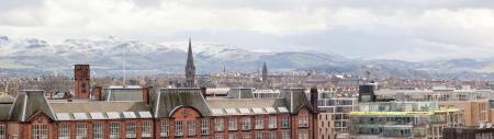 Panorama of Edinburgh Skylines building Scotland UK photo
