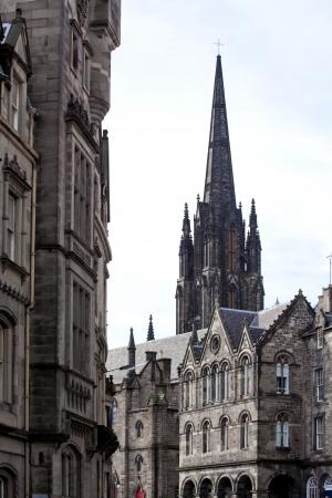 Architecture of St  Giles Cathedral Edinburgh Scotland photo