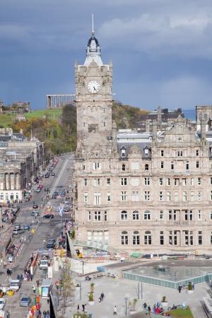 Edinburgh Skylines building and Calton Hill Scotland UK photo