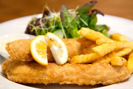 fish and chips, british food photo