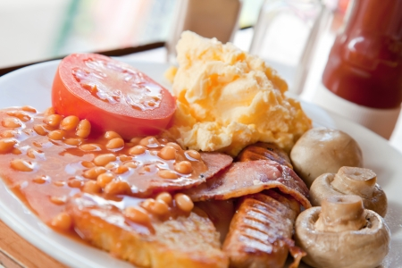 all weather: Closeup of Full English Breakfast