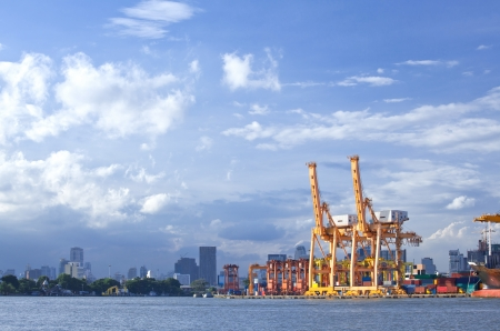 Bangkok Port Terminal for shipping and logistic photo