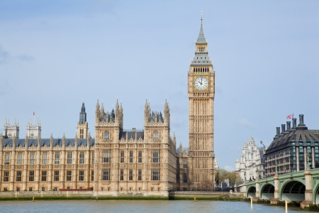 abbey: landscape of big ben at city westminster London England UK