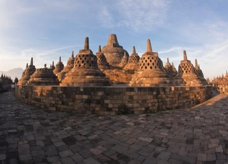 Architecture Borobudur Temple Stupa Ruin in Yogyakarta Indonesia. photo