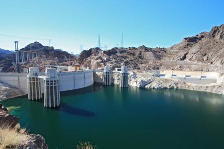 Hoover Dam and colorado river USA photo