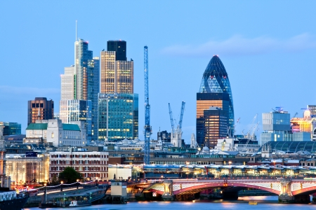 London Skylines at dusk England UK photo