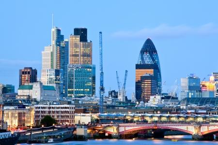 London Skylines at dusk England UK