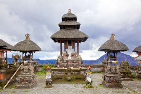bali temple: Baliness Style Temple in Bali Indonesia Stock Photo