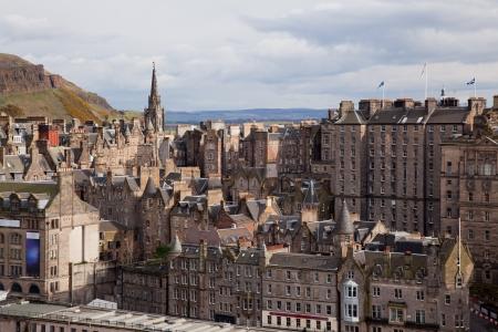 skylines: Edinburgh Skylines building Scotland UK from Monument Stock Photo