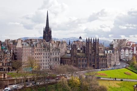 lothian: Edinburgh Cityscape with Scott Monument Scotland UK