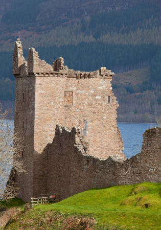 Ruins of Urquhart Castle at Loch Ness Inverness Highlands Scotland UK photo