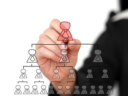organigrama: Parte de la empresa Escribe Organigrama en Tecnología de pantalla virtual para Concept Business Building