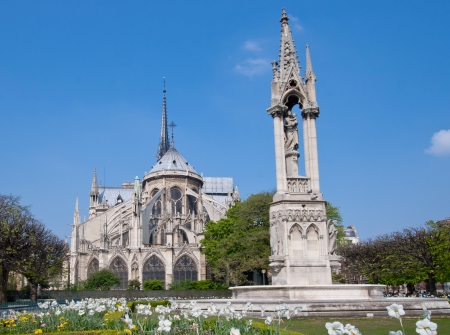 Cathedral Notre Dame Reims Champagne, Paris France Stock Photo