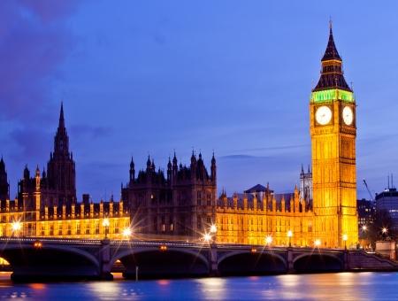 england politics: Big Ben Clock Tower and Parliament house at city of westminster, London England UK