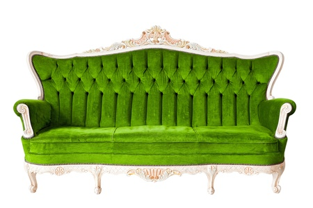 Vintage luxury Green sofa Armchair photo