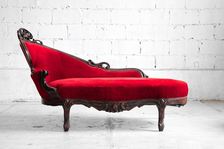 modern sofa: modern red sofa contemporary style in vintage room