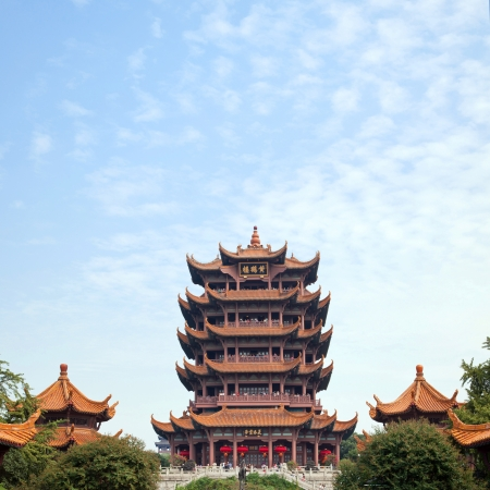 wuhan: Yellow Crane Tower temple Landmark Travel Destination, Wuhan Hubei China