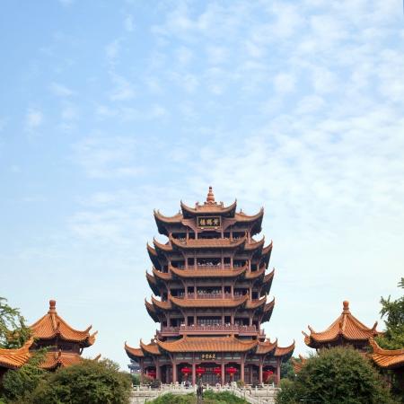 wuhan: Yellow Crane Tower temple Landmark Travel Destination, Wuhan Hubei China